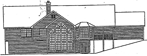 Traditional House Plan 69014 Rear Elevation