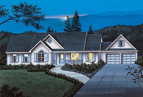 Ranch Traditional House Plan 69016 Elevation