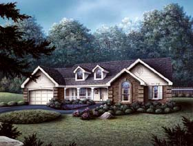 Traditional House Plan 69017 Elevation