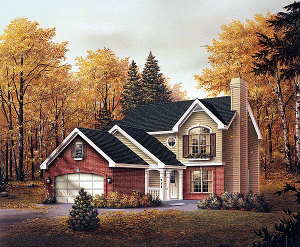 Traditional House Plan 69018 Elevation