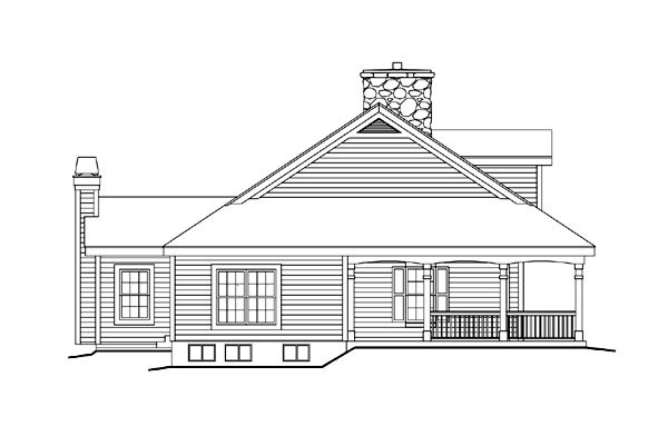 Country, Farmhouse, Ranch, Southern House Plan 69020 with 3 Beds, 2 Baths, 3 Car Garage Picture 1