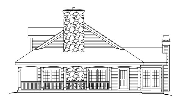 Country, Farmhouse, Ranch, Southern House Plan 69020 with 3 Beds, 2 Baths, 3 Car Garage Picture 2