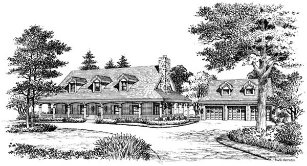 Country, Farmhouse, Ranch, Southern House Plan 69020 with 3 Beds, 2 Baths, 3 Car Garage Picture 3