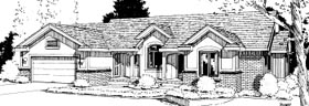 Ranch House Plan 69021 Elevation