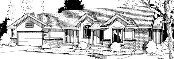 House Plan 69021 | Ranch Style House Plan with 2293 Sq Ft, 3 Bed, 3 Bath, 2 Car Garage Elevation