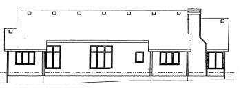 Ranch House Plan 69021 Rear Elevation