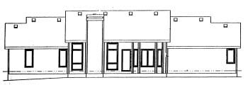 Traditional House Plan 69022 Rear Elevation