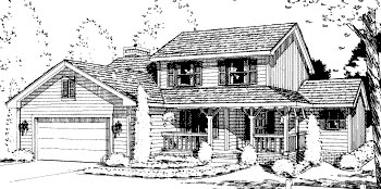 Country House Plan 69024 with 4 Beds, 3 Baths, 2 Car Garage Elevation