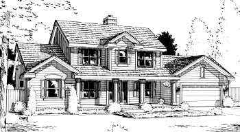 Country House Plan 69031 Elevation