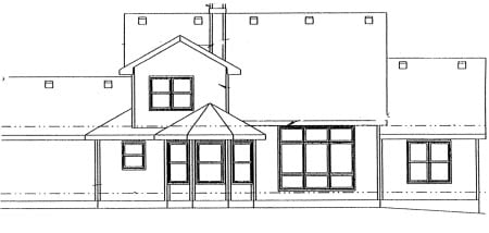 Country House Plan 69031 Rear Elevation