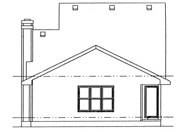 Traditional House Plan 69033 Rear Elevation