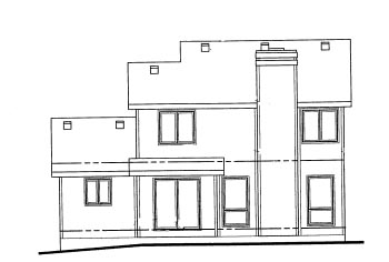 House Plan 69037 Rear Elevation