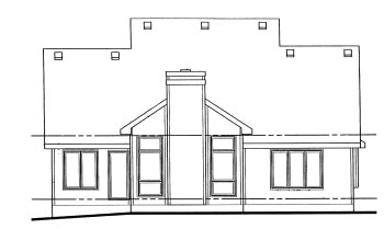 Country House Plan 69042 Rear Elevation