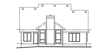 Country House Plan 69044 Rear Elevation