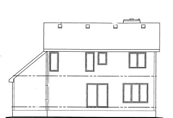 Traditional Rear Elevation of Plan 69047
