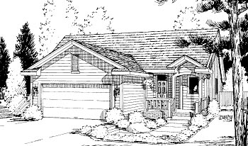 Ranch House Plan 69049 Elevation