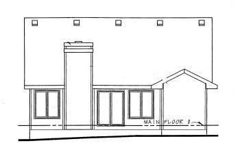 Ranch House Plan 69049 Rear Elevation