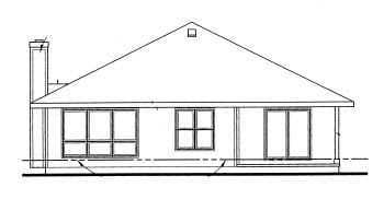 Traditional House Plan 69053 Rear Elevation