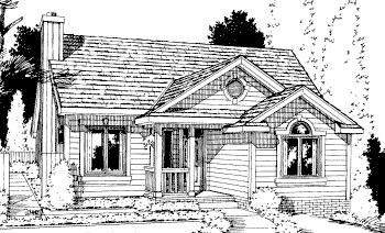 Country House Plan 69054 Elevation