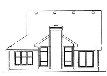 Country House Plan 69056 Rear Elevation