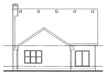 Country Narrow Lot Rear Elevation of Plan 69057