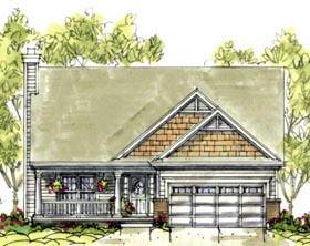 Craftsman House Plan 69076 Elevation