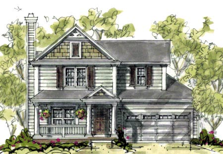 Country Craftsman House Plan 69077 Elevation
