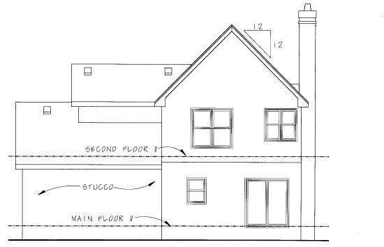 Cottage Craftsman House Plan 69078 Rear Elevation