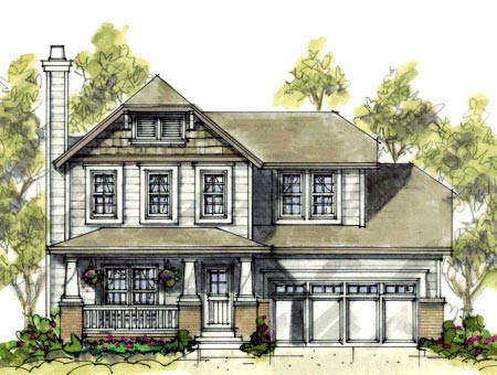 Craftsman House Plan 69080 Elevation