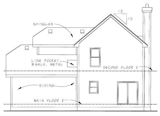 Craftsman House Plan 69080 Rear Elevation