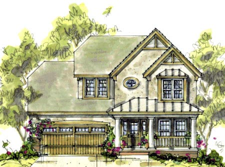Country Craftsman House Plan 69082 Elevation
