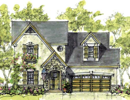 Cottage European House Plan 69084 Elevation