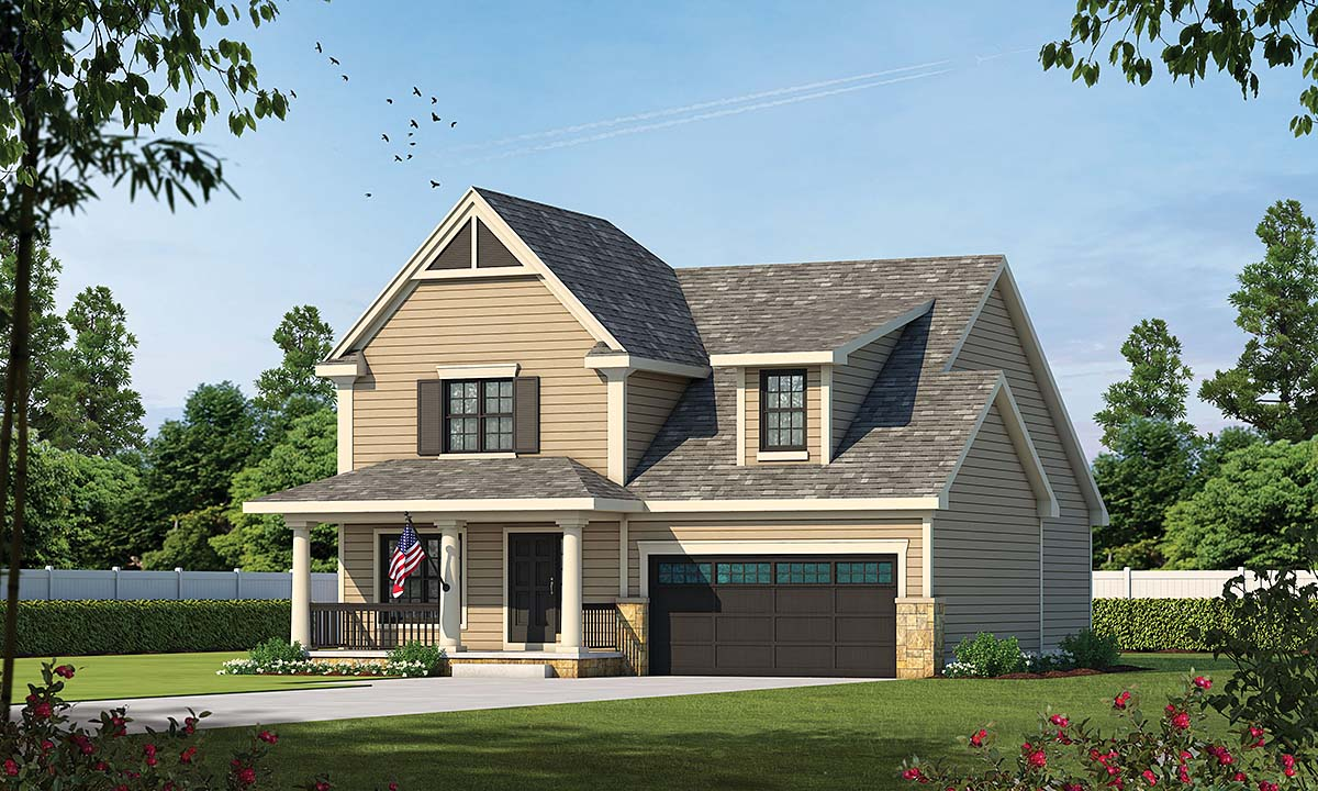 Country Craftsman House Plan 69086 Elevation