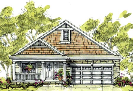 Country Craftsman House Plan 69088 Elevation