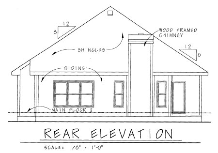 Country Craftsman House Plan 69088 Rear Elevation