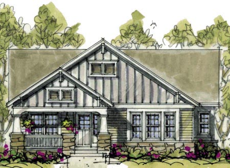 Bungalow Craftsman House Plan 69094 Elevation
