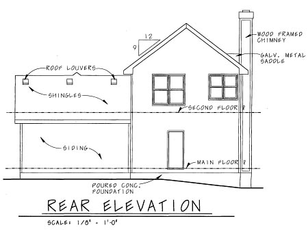 Craftsman House Plan 69097 Rear Elevation
