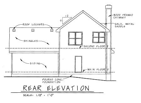 Craftsman House Plan 69099 Rear Elevation