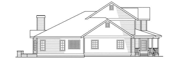 Country, Farmhouse House Plan 69102 with 4 Beds, 4 Baths, 3 Car Garage Picture 1