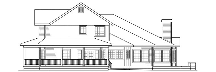 Country, Farmhouse House Plan 69102 with 4 Beds, 4 Baths, 3 Car Garage Picture 2