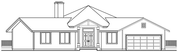 Contemporary House Plan 69103 Rear Elevation
