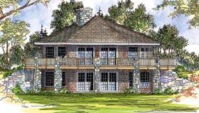 Cabin Craftsman House Plan 69105 Elevation