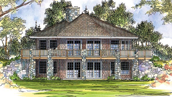 Cabin Craftsman House Plan 69105 Elevation
