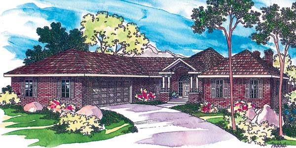 Contemporary House Plan 69107 Elevation