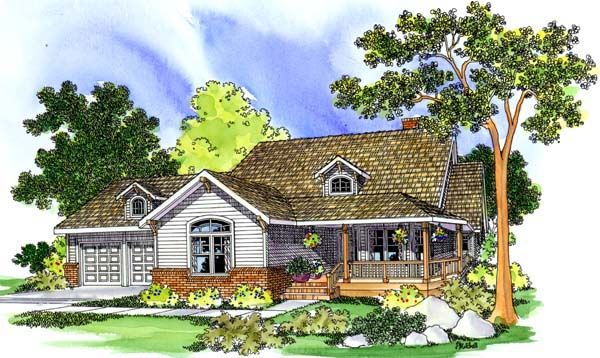 Country Traditional House Plan 69108 Elevation
