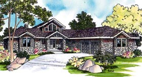 House Plan 69109 | Craftsman Ranch Traditional Style Plan with 2556 Sq Ft, 3 Bed, 3 Bath, 2 Car Garage Elevation