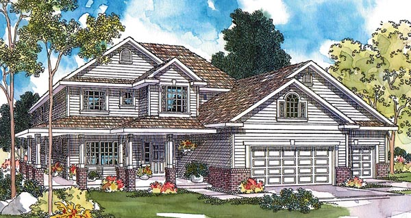 Country, Traditional House Plan 69113 with 3 Beds, 3 Baths, 3 Car Garage Elevation