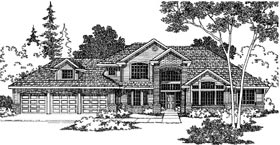 House Plan 69114 | Traditional Style House Plan with 2964 Sq Ft, 3 Bed, 3 Bath, 2 Car Garage Elevation