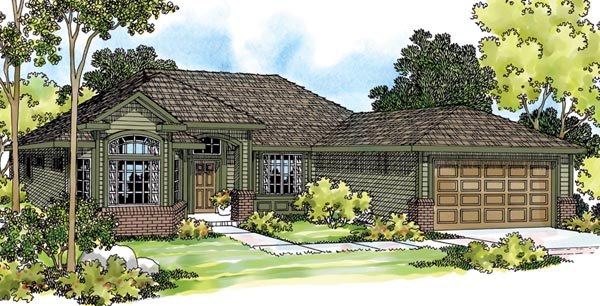 Ranch Traditional House Plan 69117 Elevation