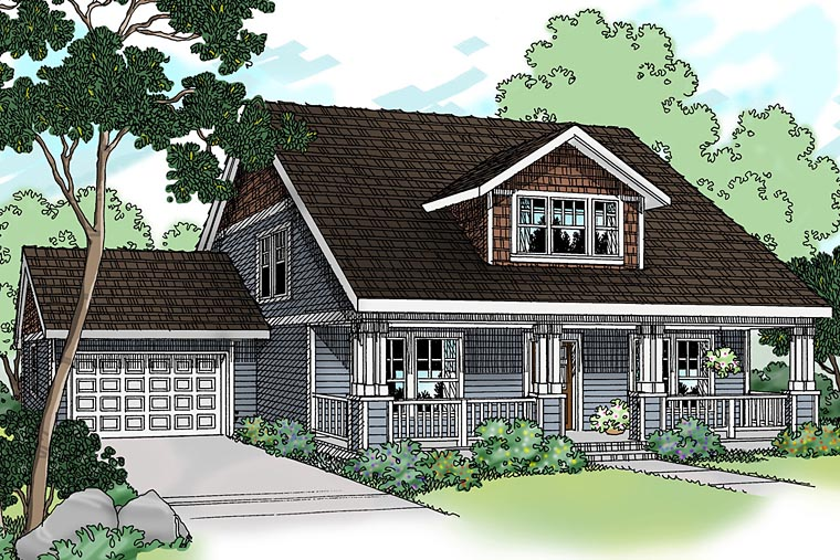 Bungalow Craftsman House Plan 69118 Elevation